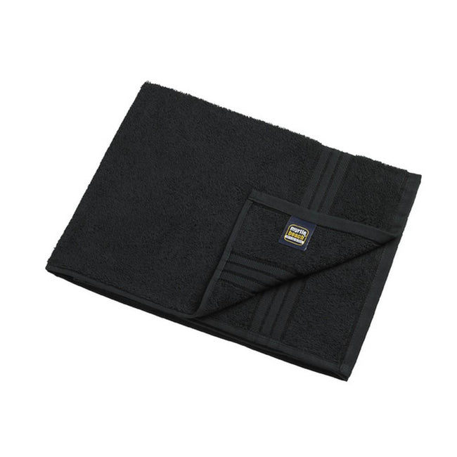 Black - Front - Myrtle Beach Basic Hand Towel (Pack of 2)