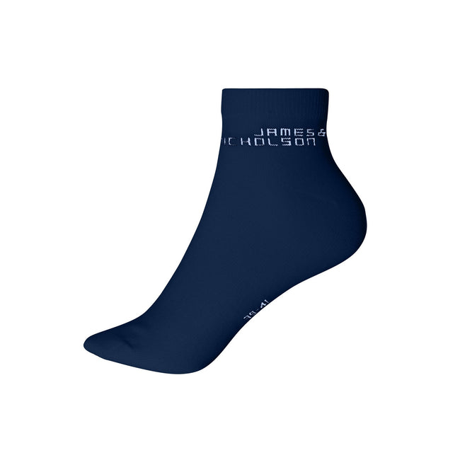 Navy - Front - James And Nicholson Unisex Bio Sneaker Socks (1 Pair)