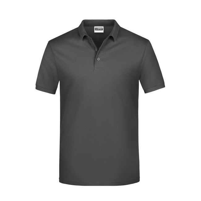 Graphite - Front - James And Nicholson Mens Basic Polo Shirt