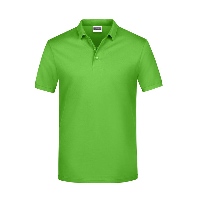 Lime Green - Front - James And Nicholson Mens Basic Polo Shirt