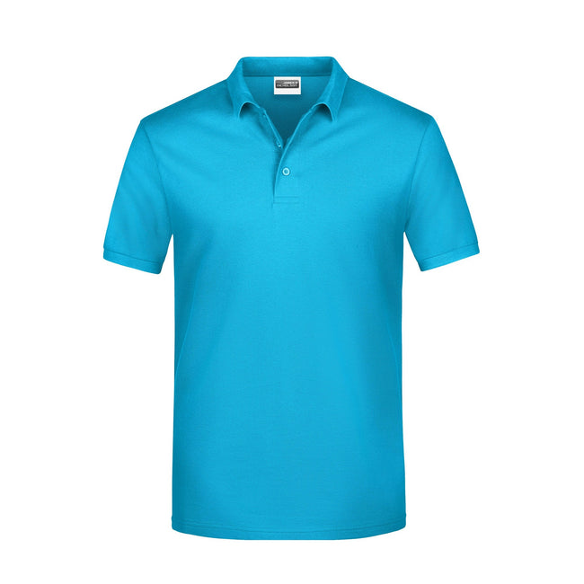 Turquoise - Front - James And Nicholson Mens Basic Polo Shirt