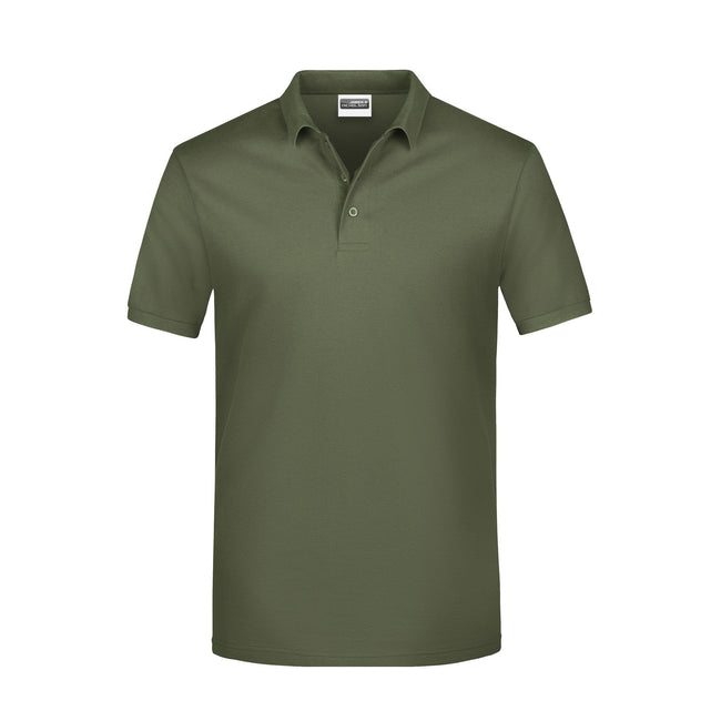 Olive - Front - James And Nicholson Mens Basic Polo Shirt