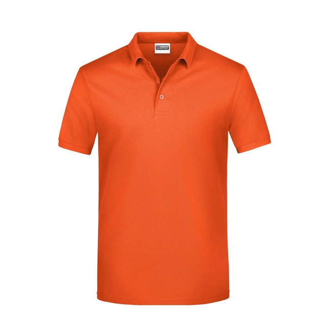 Orange - Front - James And Nicholson Mens Basic Polo Shirt
