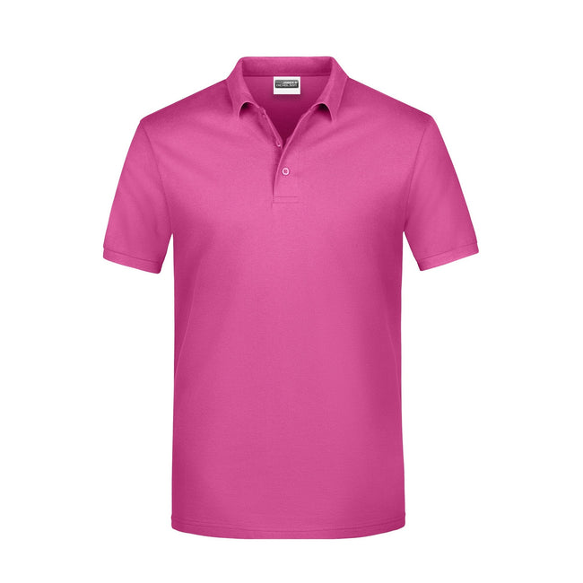 Pink - Front - James And Nicholson Mens Basic Polo Shirt