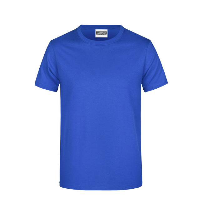 Royal - Front - James And Nicholson Mens Basic T-Shirt
