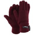Maroon - Front - FLOSO Ladies-Womens Thinsulate Thermal Knitted Gloves (3M 40g)