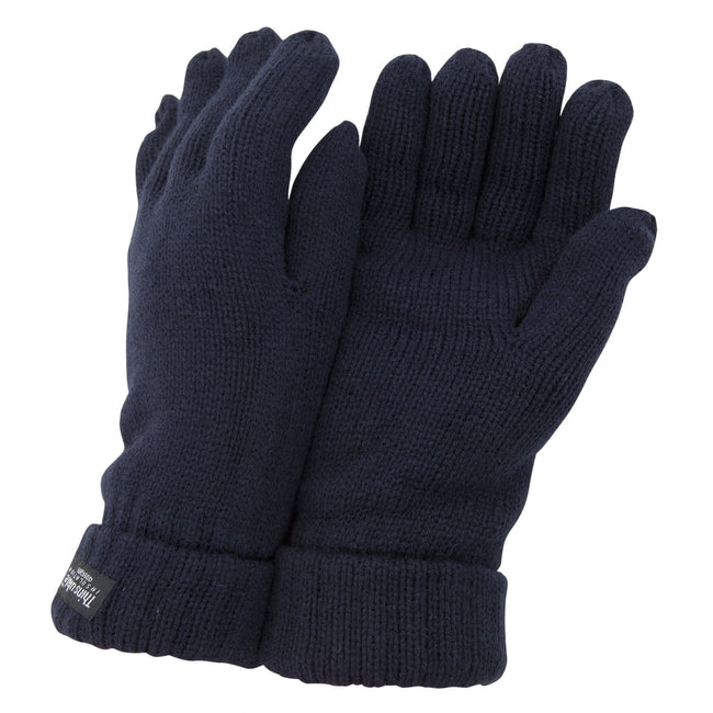 Navy - Front - FLOSO Ladies-Womens Thinsulate Winter Knitted Gloves (3M 40g)