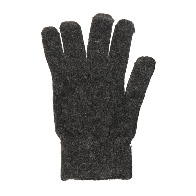 Grey - Front - Mens Plain Magic Gloves With Wool