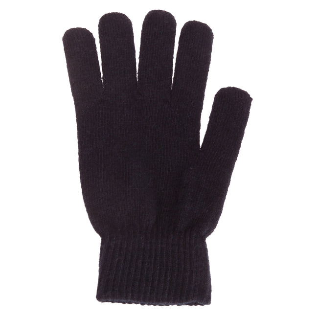 Navy - Front - Mens Plain Magic Gloves With Wool