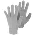Grey - Front - Ladies-Womens Plain Winter Magic Gloves