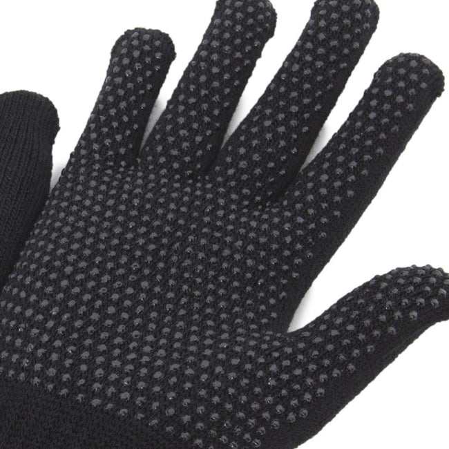 Black - Back - FLOSO Unisex Magic Gloves With Grip