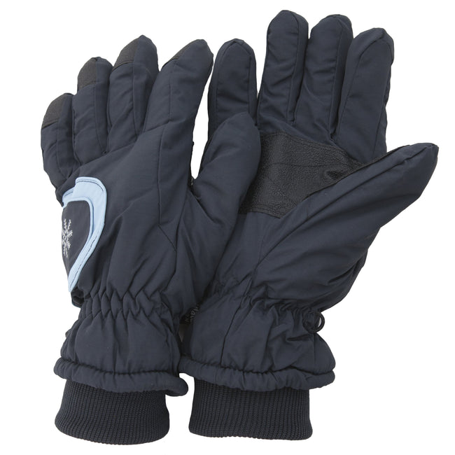 Navy - Front - Floso Ladies-Womens Thinsulate Extra Warm Thermal Padded Winter-Ski Gloves With Palm Grip (3M 40g)