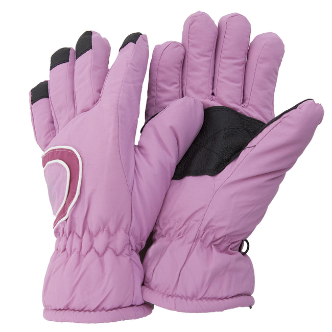 Baby Pink - Front - Floso Ladies-Womens Thinsulate Extra Warm Thermal Padded Winter-Ski Gloves With Palm Grip (3M 40g)