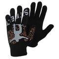 Design 2 - Front - Boys Black Winter Magic Gloves With Rubber Print