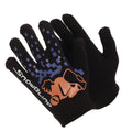 Design 3 - Front - Boys Black Winter Magic Gloves With Rubber Print