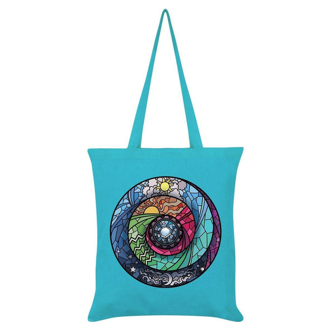 Azure Blue - Front - Grindstore Stained Glass Spectroscope Tote Bag