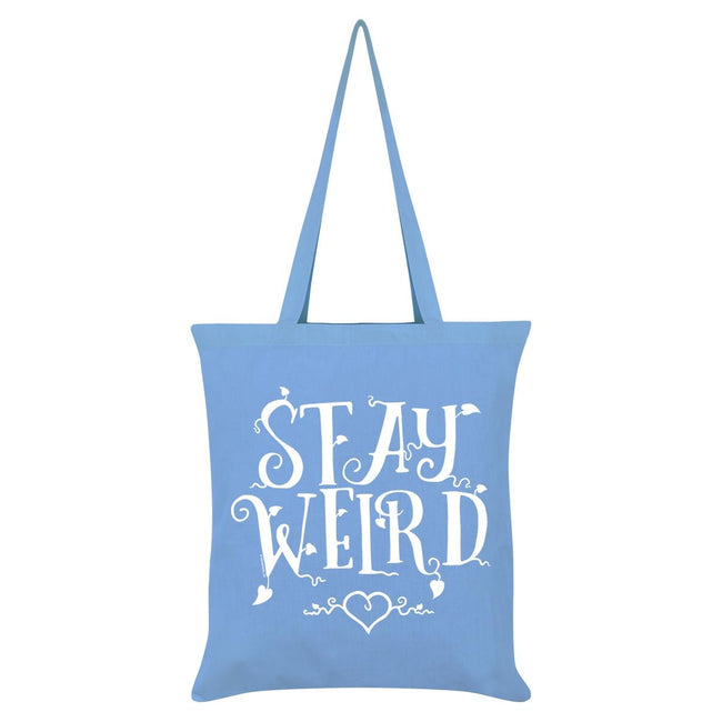 Sky Blue - Front - Grindstore Stay Weird Tote Bag