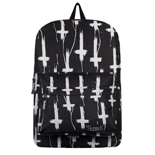 Black - Front - Unorthodox Collective Inverted Cross Backpack