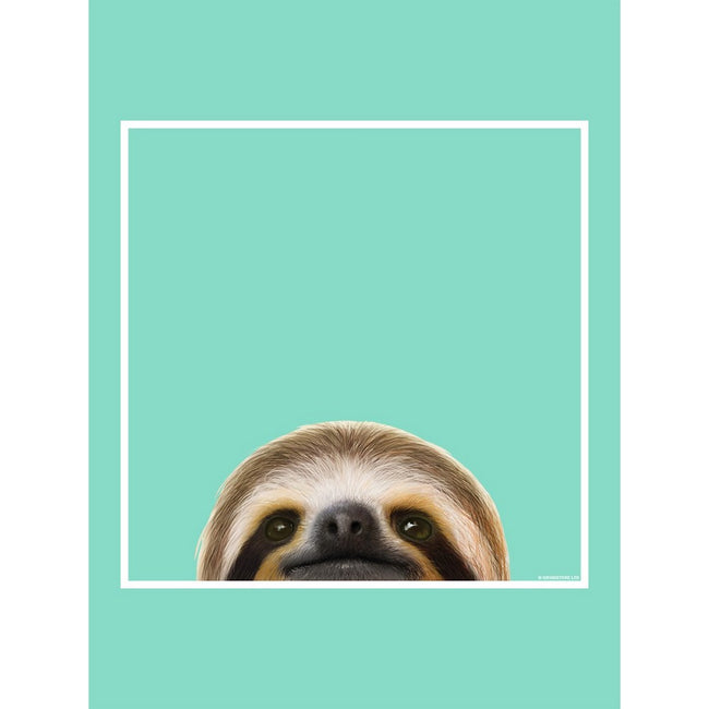 Mint - Side - Inquisitive Creatures Sloth Tote Bag