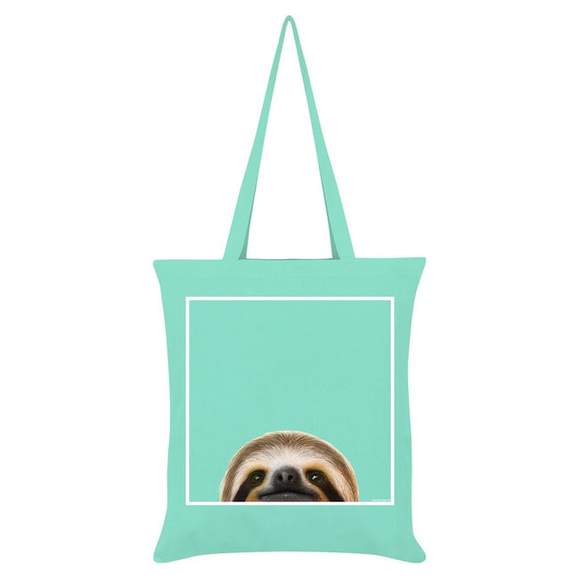 Mint - Front - Inquisitive Creatures Sloth Tote Bag