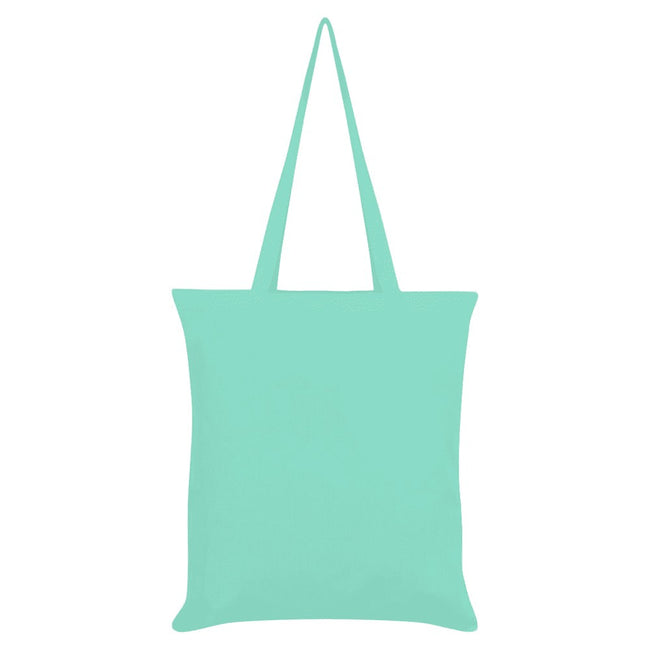 Mint - Back - Inquisitive Creatures Llama Tote Bag