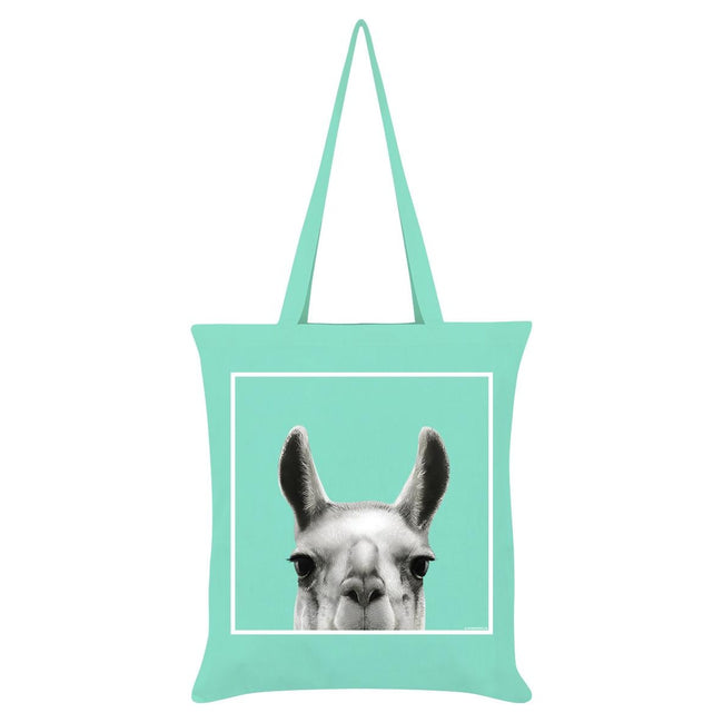 Mint - Front - Inquisitive Creatures Llama Tote Bag