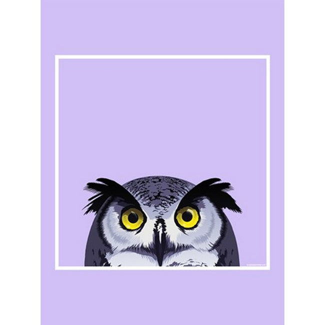 Lilac - Back - Inquisitive Creatures Owl Tote Bag