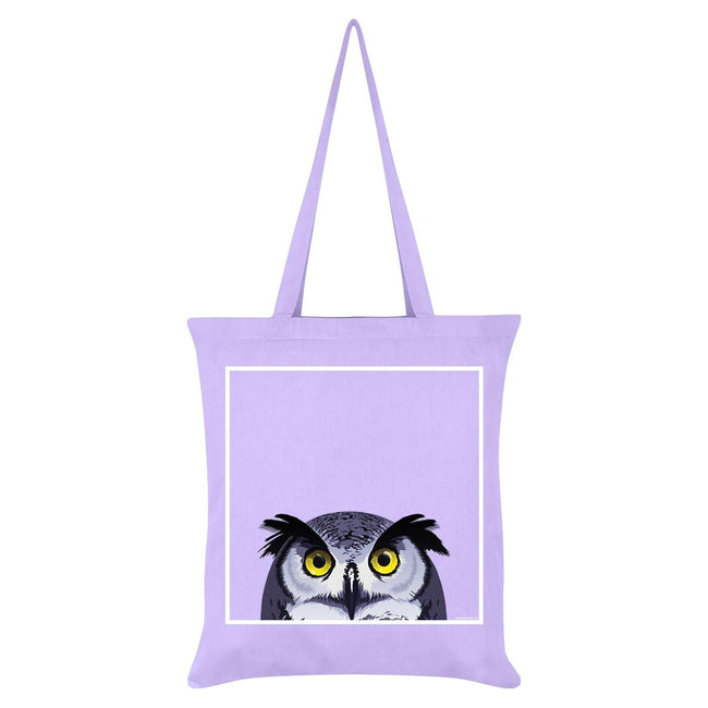 Lilac - Front - Inquisitive Creatures Owl Tote Bag