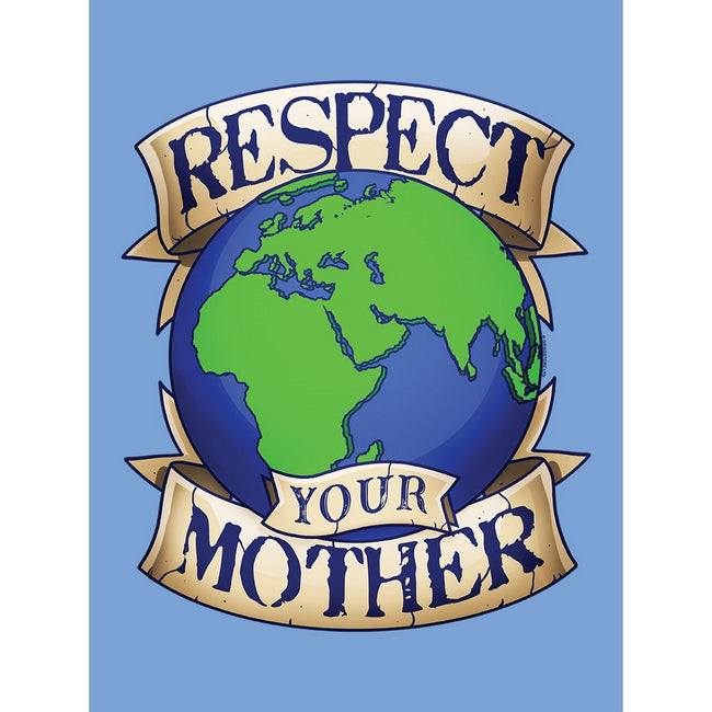 Sky Blue - Side - Grindstore Respect Your Mother Earth Tote Bag