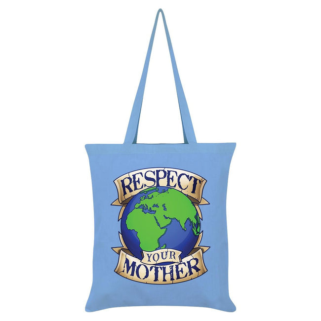 Sky Blue - Front - Grindstore Respect Your Mother Earth Tote Bag