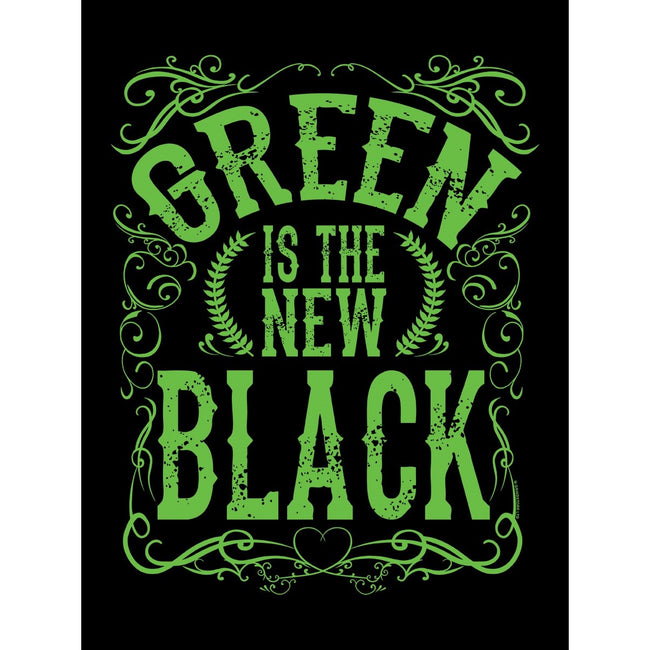 Black-Green - Back - Grindstore Green Is The New Black Tote Bag