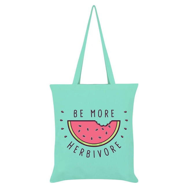 Green - Front - Grindstore Be More Herbivore Tote Bag
