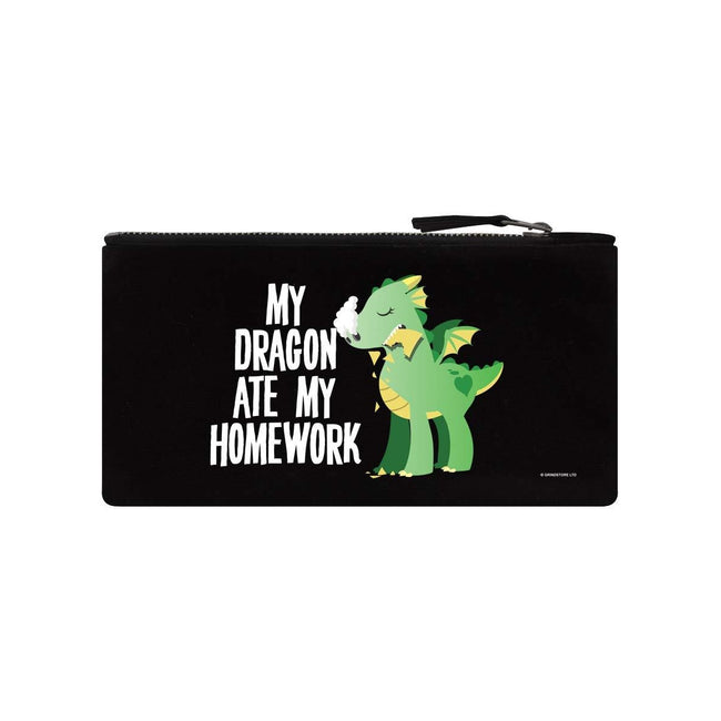 Black - Front - Grindstore My Dragon Ate My Homework Pencil Case