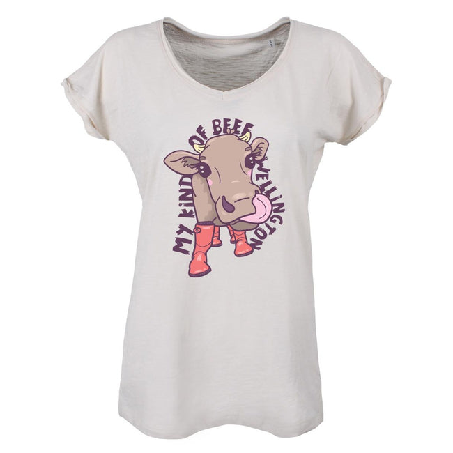 White - Front - Grindstore Ladies-Womens My Kind Of Beef Wellington Vintage T-Shirt