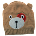 Brown - Front - Childrens-Kids Girls Teddy Bear Design Winter-Ski Hat With Inner Lining
