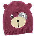 Pink - Front - Childrens-Kids Girls Teddy Bear Design Winter-Ski Hat With Inner Lining