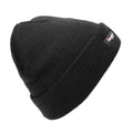 Black - Front - FLOSO Kids-Childrens Knitted Winter-Ski Hat With Thinsulate Lining (3M 40g)