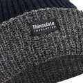 Black-Grey - Back - FLOSO Unisex Mens-Womens Thinsulate Heavy Knit Winter-Ski Thermal Hat (3M 40g)