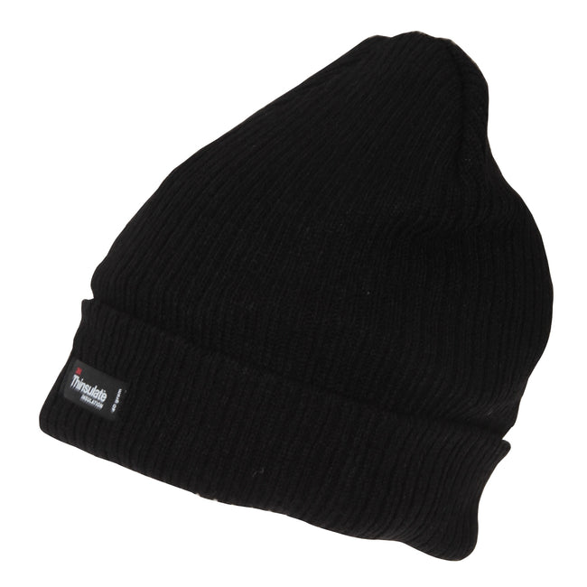 Black - Front - Mens 3M Thinsulate Beanie