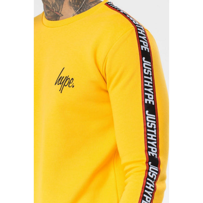 Yellow - Lifestyle - Hype Mens Taylor Tape Crewneck Sweatshirt