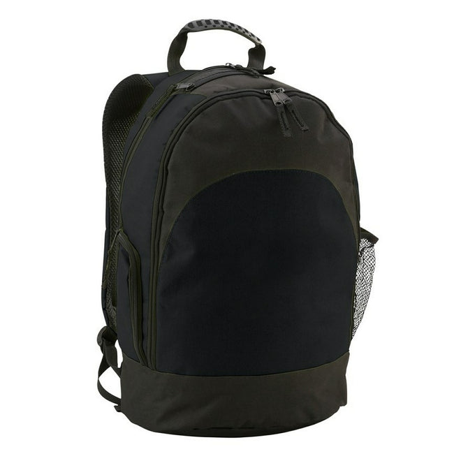 Black - Front - ID Large Padded Backpack - Rucksack