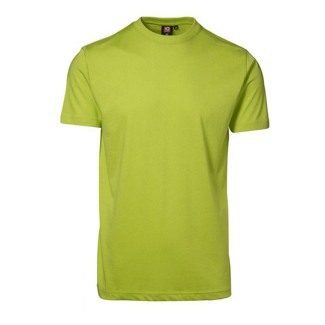 Lime - Front - ID Unisex Yes Short Sleeve Fitted Plain Cotton T-Shirt