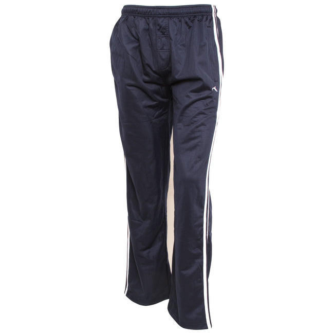 Navy - Front - Mens Sportswear Tracksuit-Jogging Bottoms (Open Cuff)
