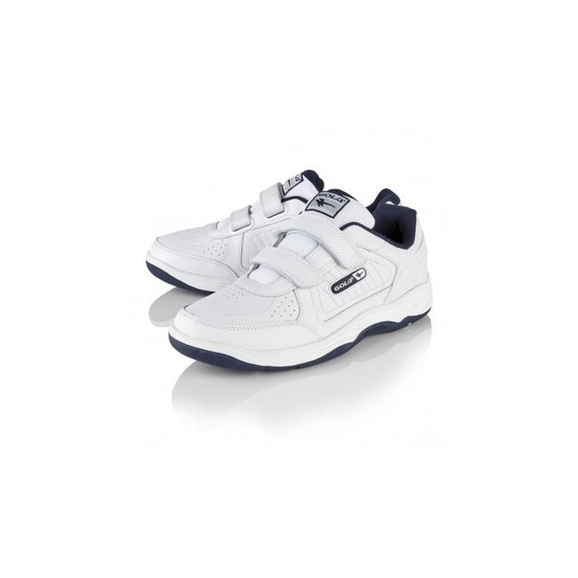 White-Navy - Back - Gola Mens Belmont WF Wide Fit Trainers