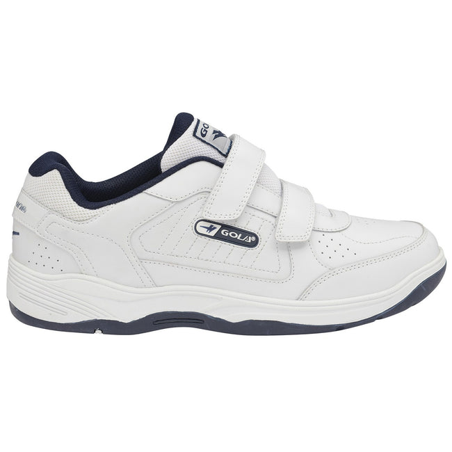 White-Navy - Side - Gola Mens Belmont WF Wide Fit Trainers