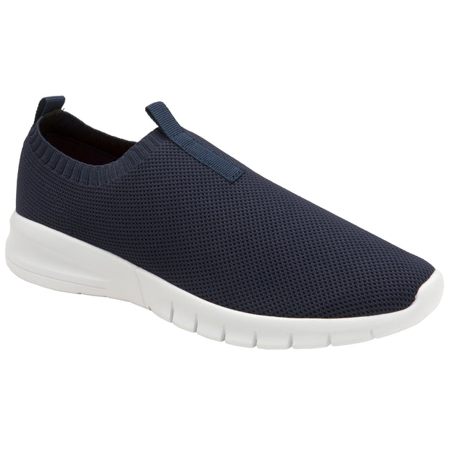 Navy-Deep Red - Front - Lonsdale Mens Alix Slip On Trainer