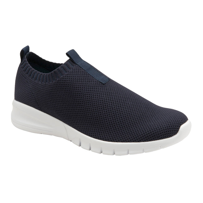 Navy-Mint - Front - Lonsdale Womens-Ladies Alix Slip On Trainer