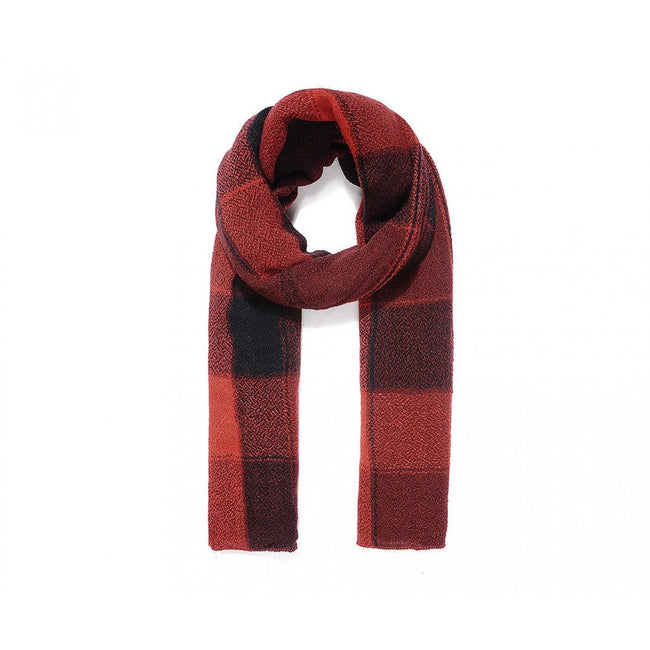 Red - Front - Intrigue Womens-Ladies Shepherd Check Scarf
