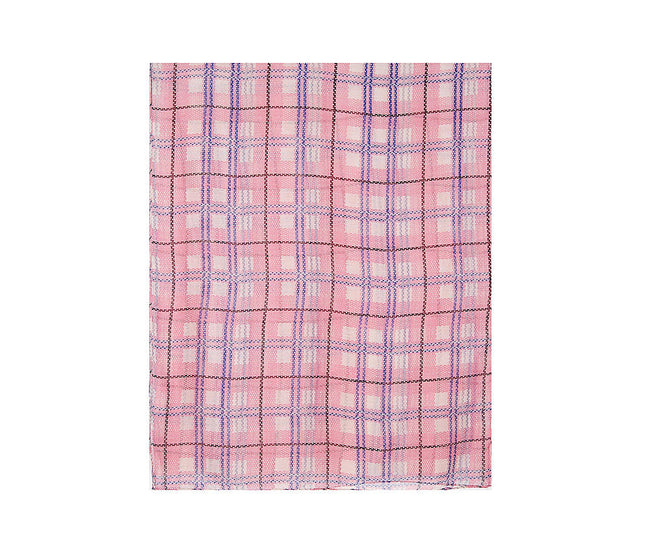 Pink - Back - Intrigue Womens-Ladies Checked Print Scarf