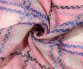 Pink - Side - Intrigue Womens-Ladies Checked Print Scarf